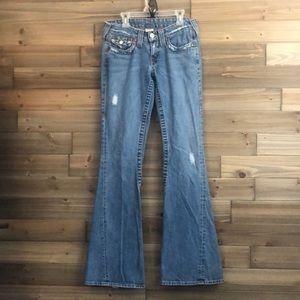 True Religion Button Flap, flare leg Jeans Size 26